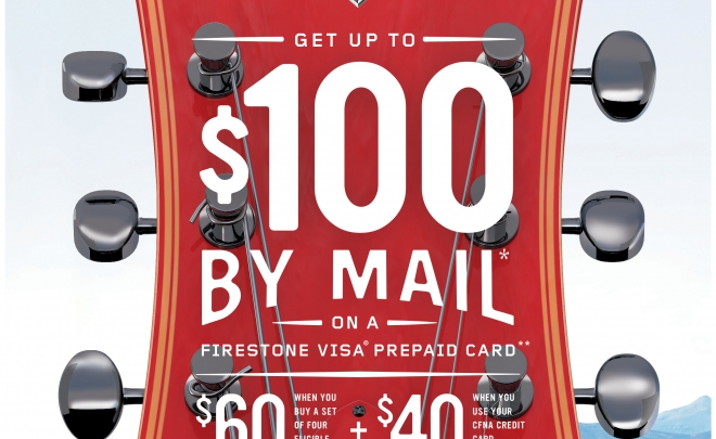 Firestone Rebate through July 9, 2017