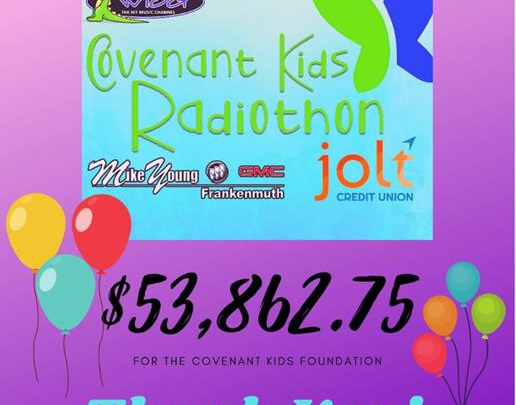 Covenant Kids Radiothon Results